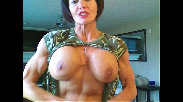 with boobs huge bodybuilders Female silicone