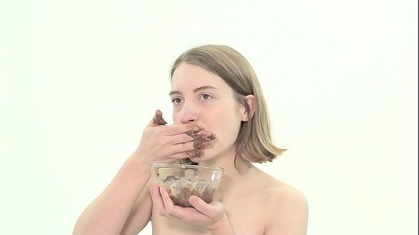 Dirty lesbian eating feces
