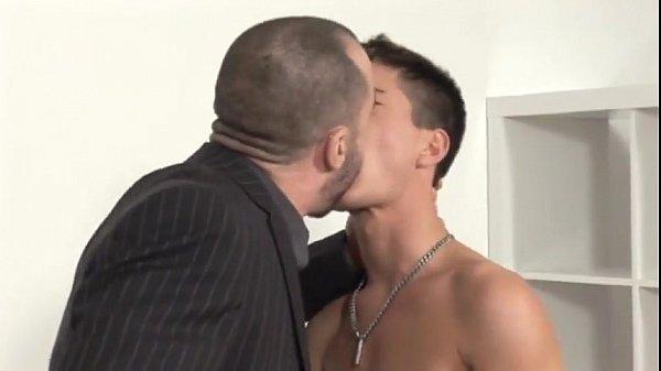 Hunks vs Twink…Dad sucks licks fucks horny son's best friend