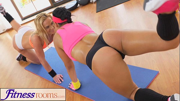 FitnessRooms Two lesbian gym buddies having a s…