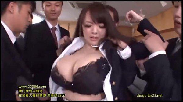 【田中瞳】超すんげー爆乳OLのむっちり巨乳を見上げながら騎乗位性交します