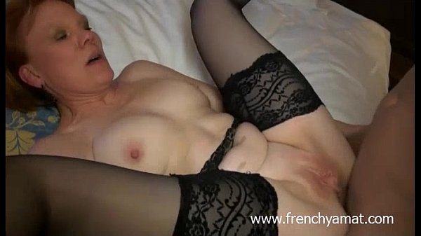 two cocks for a horny french mature 14 min