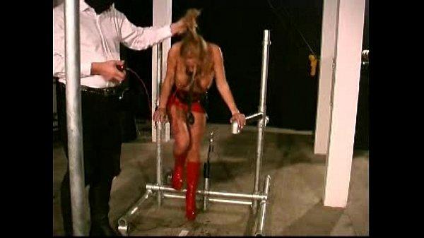Slave Livia extreme restraints bondage train...