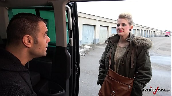Takevan Pierced wierd blonde pay anything including fuck for a ride