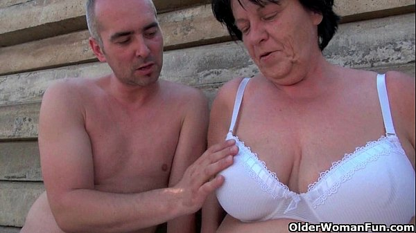 Mature moms getting fucked outdoors...