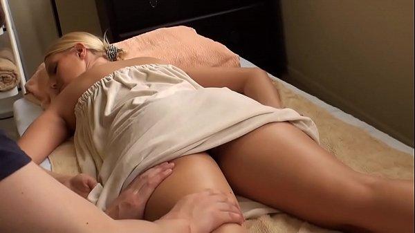blonde babe massaged vanessa cage...