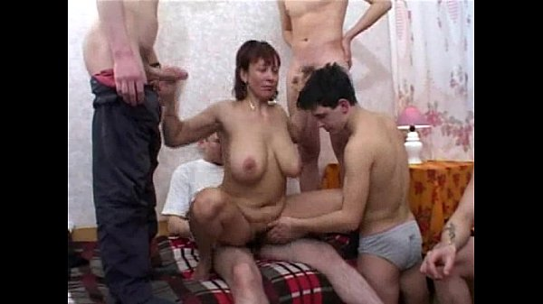 redhead russian milf fucked by young boys...
