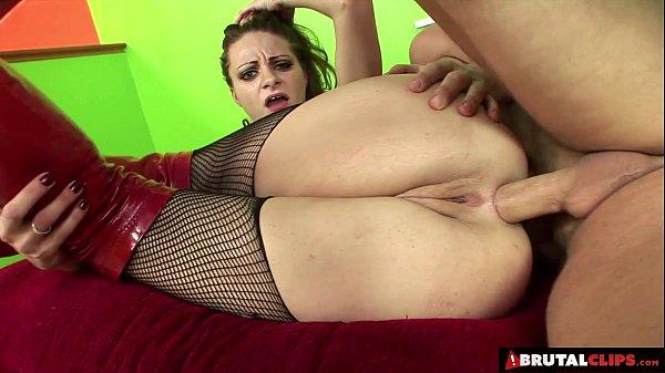 Brutalclips horny slut gets all her holes drilled 2
