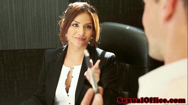 Office secretary isabella de santos jizzed on
