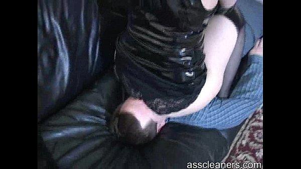 porno-cafe.net - Lazy slave gets smothered by mistress' ass