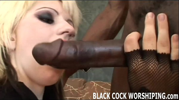 Gothic Blonde Likes Getting Banged With A Big Blacked Dick
