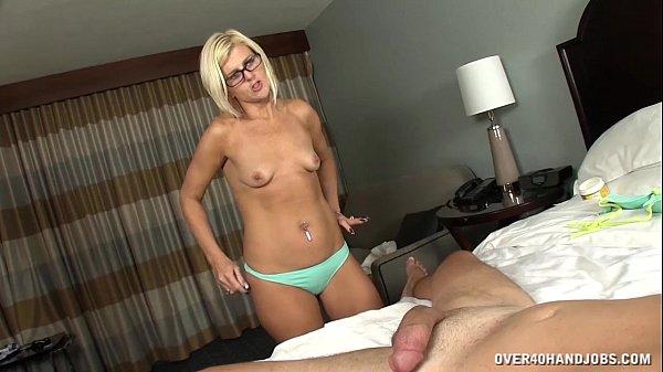 Bbw jerks off her husband