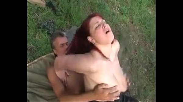 large breasted redhead gets fucked outdoors ...