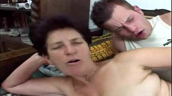 Hairy granny loves young cock...