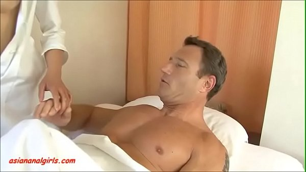 Asiananalgirls.com asian nurse get anal dp from two cock and cum in mouth