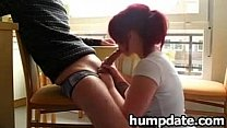Redhead GF Gives Nice Blowjob