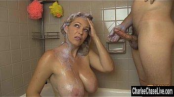 Big Tit MILF Charlee Chase Shampoo Suck Off