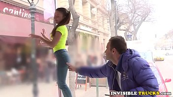 Pickedup euro gal pussylicked in public truck