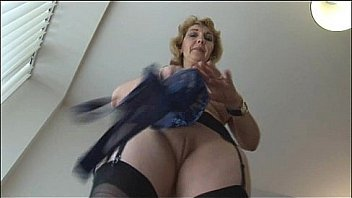 Mature in pantyhose teasing