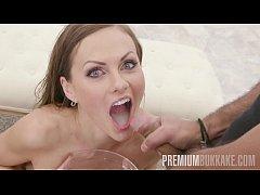 Premium Bukkake - Tina Kay swallows 68 big loads and got DP fucked in the ass