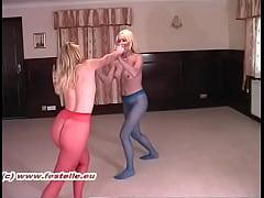 Pantyhose Catfight Erika vs Lucy 1