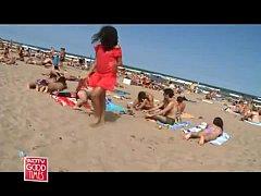 Hot Indian MILF On Barcelona Beach
