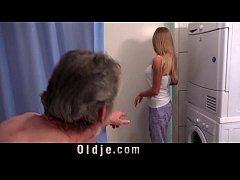 Hot teen Lolly Gartner makes grandpa cum on her...