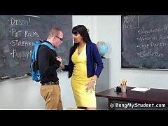 Nerdy Student Fucks His Hot Latina Teacher Mrs....