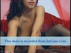 Very hot camgirl masturbates show live webcam