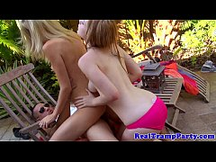 Partying loving amateurs giving bj