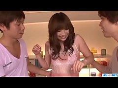 Perfect threesome along hot milf, Mami Yuuki