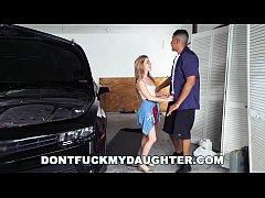 18yo Teen Lilly Ford Fucks Daddy's Mechanic Fri...