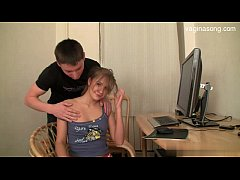 Young shaved pussy handjob