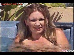 Young friend gets kinky in the hot tub