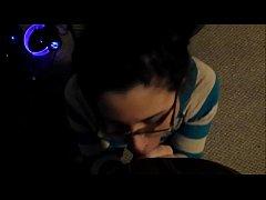 Horny Girl With Glasses POV BJ & Facial