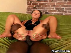 Carla's Nasty Interracial Double Penetration Th...