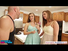 Hot girls Jillian Janson and Maddy O` Reilly sharing cock