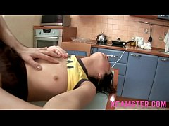 Tiny stepsister teen in ktichen fucked then dil...