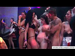 Girls licking pussies and banging at a dance club