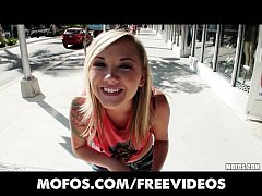 Cute amateur blonde is talked into trying ...