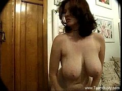 Busty Katherine Strips At Home
