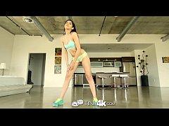 Tiny4K - Latin Ava Taylor seductively bounces p...