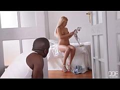 Yoga Mat Banging - Huge Black Dick Crams Shaved Tight Pussy
