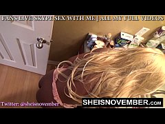 YOUNG BLONDE SLUT GETS ROUGH BLOWJOB TO HER FAC...