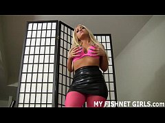 I will tease you in my fishnets while you jerk ...