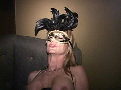 Masks make MILF Martha and her friends into cum...