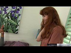 Natural Redhead Abby sees her first BBC