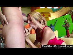 RealMomExposed - Big Titted Milf Taking On a Young Stud's Big Cock