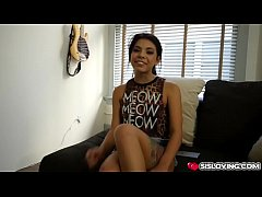 Gina Valentina sucks her brothers fat cock