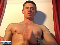 Jerome a very sexy gym guy gets wanked his hard...